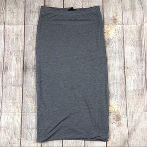 Top shop Gray stretch Knit jersey pencil skirt